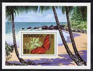 Dominica 1975 Butterflies perf m/sheet unmounted mint, SG MS466