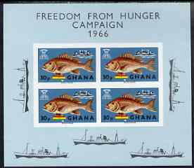 Ghana 1966 Freedom From Hunger (Fish) imperf m/sheet unmounted mint, SG MS425