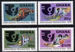 Ghana 1975 International Women's Year perf set of 4 unmounted mint, SG 744-47