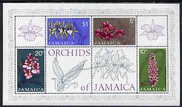 Jamaica 1973 Orchids perf m/sheet unmounted mint , SG MS379