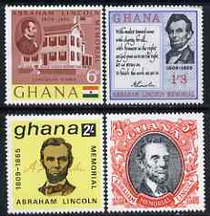 Ghana 1965 Death Centenary of Abraham Lincoln perf set of 4 unmounted mint, SG 373-76*