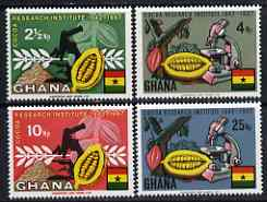 Ghana 1968 Cocoa research perf set of 4 unmounted mint, SG 501-504