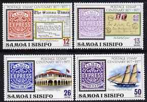 Samoa 1977 Stamp Centenary set of 4 unmounted mint, SG 488-91