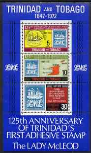 Trinidad & Tobago 1972 Stamp Centenary m/sheet with upright wmk unmounted mint, SG MS 416