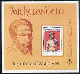 Maldive Islands 1975 500th Birth Anniversary of Michelangelo perf m/sheet unmounted mint, SG MS612