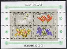 Malawi 1969 Orchids perf m/sheet unmounted mint, SG MS333