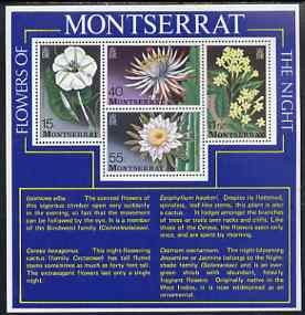 Montserrat 1977 Flowers of the Night perf m/sheet unmounted mint, SG MS403