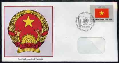 United Nations (NY) 1980 Flags of Member Nations #1 (Viet Nam) on illustrated cover with special first day cancel