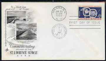 United States 1959 Opening of St Lawrence Seaway on illustrated cover with first day cancel, SG 1130