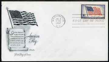 United States 1957 US Flag Issue (48 stars) on illustrated cover with first day cancel, SG 1096