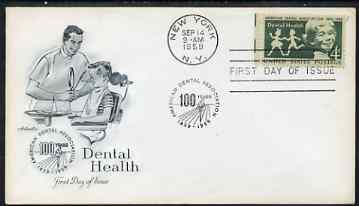 United States 1959 Dental Health on illustrated cover with first day cancel, SG 1134