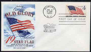 United States 1959 US Flag Issue (49 stars) on illustrated cover with first day cancel, SG 1131