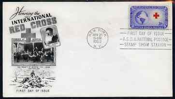 United States 1952 International Red Cross on illustrated cover with first day cancel, SG 1013