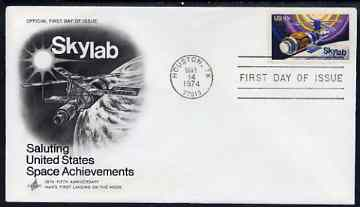 United States 1974 Skylab Space Project on illustrated cover with first day cancel, SG 1527