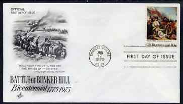 United States 1975 American Revolution - Battle of Bunker Hill on illustrated cover with first day cancel, SG 1562