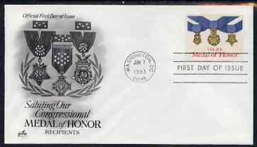United States 1983 Medal of Honour on illustrated cover with first day cancel, SG 2032