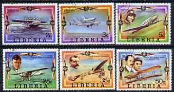 Liberia 1978 Progress in Aviation perf set of 6 cto used SG 1327-32