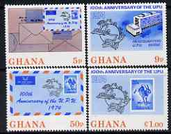 Ghana 1974 Centenary of UPU perf set of 4 unmounted mint, SG 705-08