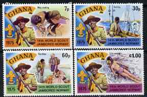 Ghana 1976 World Scout Jamboree perf set of 4 unmounted mint, SG 755-58