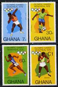Ghana 1976 Montreal Olympic Games perf set of 4 unmounted mint, SG 773-76