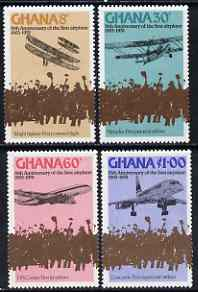 Ghana 1978 75th Anniversary of Powered Flight perf set of 4 unmounted mint, SG 840-43