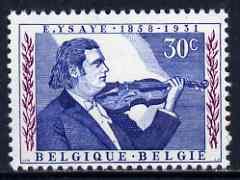 Belgium 1958 Birth Centenary of Ysaye (violinist) unmounted mint, SG 1658