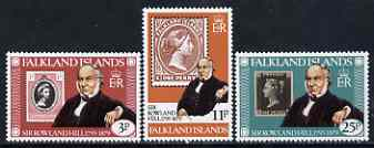 Falkland Islands 1979 Death Centenary of Sir Rowland Hill set of 3 unmounted mint, SG 364-66