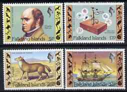 Falkland Islands 1982 150th Anniversary of Darwin's Voyage perf set of 4 unmounted mint, SG 422-25