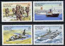 Falkland Islands 1983 First Anniversary of Liberation perf set of 4 unmounted mint, SG 454-57