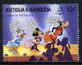 Antigua 1989 Dancing in the Folies Bergere 10c (from Disney Philexfrance