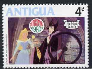 Antigua 1980 Spinning Wheel Scene 4c (from Disney 'Sleeping Beauty' Christmas set) unmounted mint, SG 674