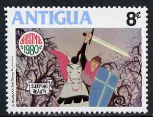 Antigua 1980 The Forbidden Forest Scene 8c (from Disney 'Sleeping Beauty' Christmas set) unmounted mint, SG 675