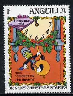 Anguilla 1983 Jiminy Cricket on Hearth 1c (from Disney