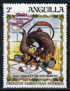 Anguilla 1983 Jiminy Cricket with Violin & Kettle 2c (from Disney
