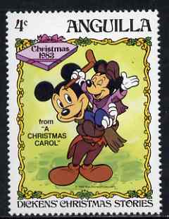 Anguilla 1983 Mickey as Bob Cratchit 4c (from Disney 'Dickens Christmas Stories' set) unmounted mint, SG 580
