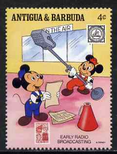 Antigua 1989 Early Radio Broadcasters 4c (from Disney