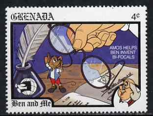 Grenada 1989 Ben & Amos with Bi-focals 4c (from Disney 'World Stamp Expo '89' set) unmounted mint, SG 2059*