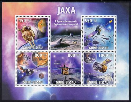 Guinea - Bissau 2009 JAXA - Japanese Space Agency perf sheetlet containing 5 values unmounted mint