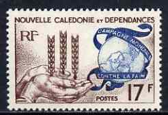 New Caledonia 1963 Freedom From Hunger 17f unmounted mint, SG 368