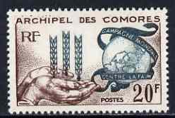 Comoro Islands 1963 Freedom From Hunger 20f unmounted mint, SG 33