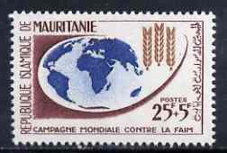 Mauritania 1963 Freedom From Hunger 25f + 5f unmounted mint, SG 161
