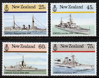 New Zealand 1985 Naval History set of 4 unmounted mint, SG 1379-82