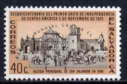 El Salvador 1963 Freedom From Hunger opt on 40c Revolution unmounted mint, SG 1179