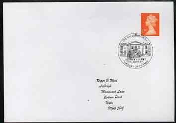 Postmark - Great Britain 2002 souvenir cover for the Salvation Army with Sunbury on Thames cancel illustrated with Sunbury Court