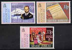 British Antarctic Territory 1977 Silver Jubilee set of 3 unmounted mint, SG 83-85
