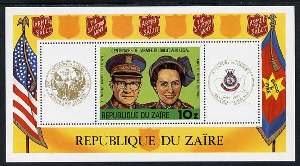 Zaire 1980 Salvation Army m/sheet unmounted mint (Mi BL 34)