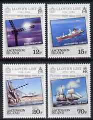 Ascension 1984 250th Anniversary of Lloyd's List (newspaper) perf set of 4 unmounted mint, SG359-62