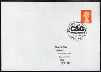 Postmark - Great Britain 2002 cover for C & G Trophy with special illustrated Lord's Ground cancel