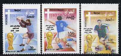 Iraq 2002 Football World Cup perf set of 3 unmounted mint