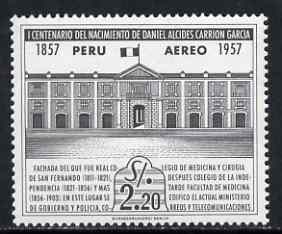 Peru 1958 Royal School of Medicine (now Ministry of Govt Police) 2s20 unmounted mint, SG 822